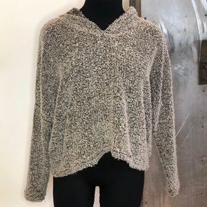 Beige & black knit sweater